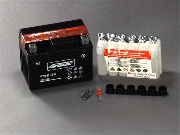 4RIDE YTX4L-BS (33673) Мото аккумулятор, фото 2
