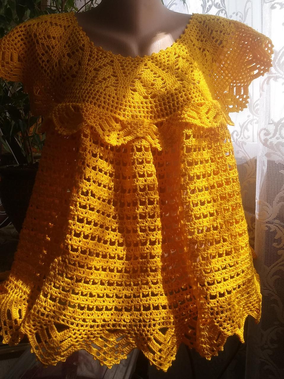 """Туника """"Солнышко"""" - вязаная женская одежда - уникальные изделия - ТМ """"PRIGRIZ"""""""