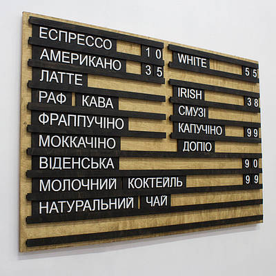 Менюшница,табличка,меню