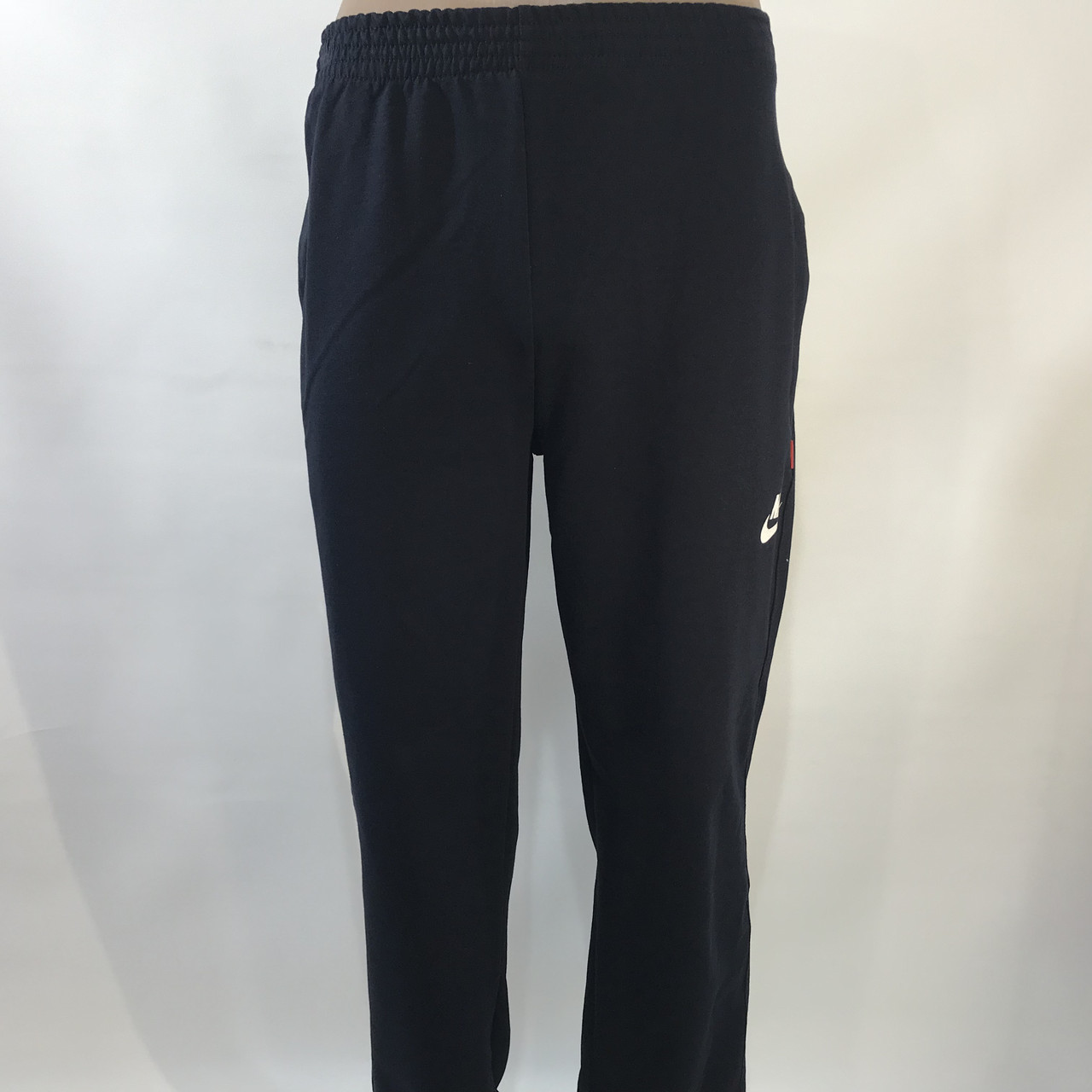 Спортивні штани в стилі Nike під манжет темно сині 46,48,50,52,54