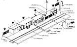 Piko 61112 Запасна частина будови -Приміський залізничний вокзал, масштабу H0,1:87, фото 3