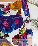 Яркая блуза с цветочным пастельным принтом Размеры 50,52,54,56, фото 3