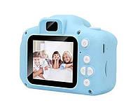 Детский фотоаппарат GM14 - 3Mp, FullHD видео, 5 встроенных игр - голубая