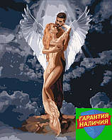 Картина по номерам Ты мой ангел Ти мій янгол 40*50см Идейка KHO4665 Раскраска по цифрам