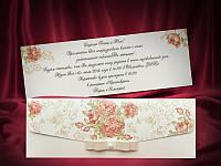 Красочные приглашения на свадьбу с цветами (арт. 5493), фото 1