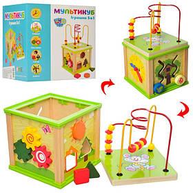 Деревянная игрушка Лабиринт на проволоке, сортер. В коробке