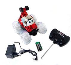 Перевёртыш трюковая машинка на радио пульте управлении с световыми эффектами красный