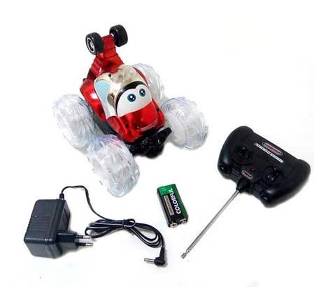Перевёртыш трюковая машинка на радио пульте управлении с световыми эффектами красный, фото 2