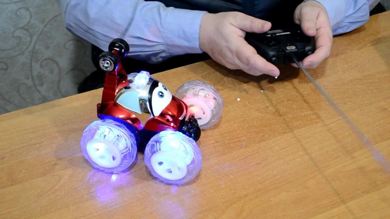 Перевёртыш машинка на радио пульте управлении с световыми эффектами