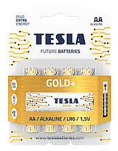 Щелочные батарейки TESLA GOLD+ AA (LR06) 4 шт.