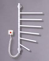 Электрический полотенцесушитель Вертикаль 6 поворотная (белая)