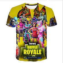 Яркая  футболка  размера XL рисунок Fortnite battle royale Фортнайт