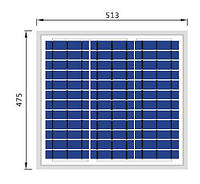 Солнечная батарея Perlight 20ВТ / 12В (Поликристалическая) PLM-020P-36