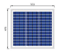 Сонячна батарея Perlight 20ВТ / 12В (Поликристалическая) PLM-020P-36