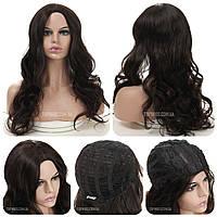 Кучерявый парик без челки Ida AT без челки, термоволокно, шоколадный цвет