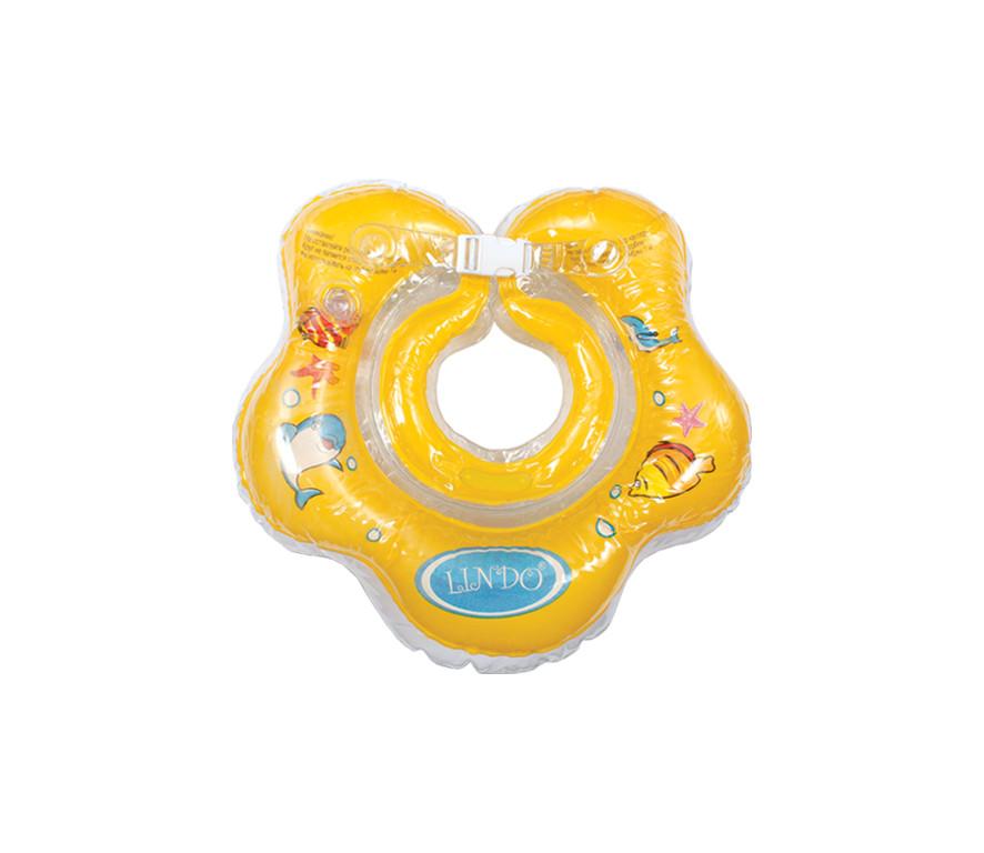 Круг для купания новорожденных Lindo желтый LN-1558