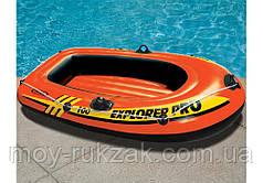 """Надувная одноместная лодка Intex """"Explorer 100"""", 58355, 160х94х29см, до 80кг"""