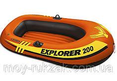 """Надувная одноместная лодка Intex """"Explorer 200"""", 58330, 185х94х41см, до 95кг"""