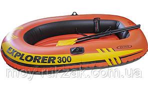 """Надувная двухместная лодка Intex """"Explorer 300"""", 58332, весла + насос, 211х117х41см, до 186кг, фото 2"""