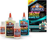 Набор для создания слайма слайм светится в темноте Elmers  glow in the dark slime kit