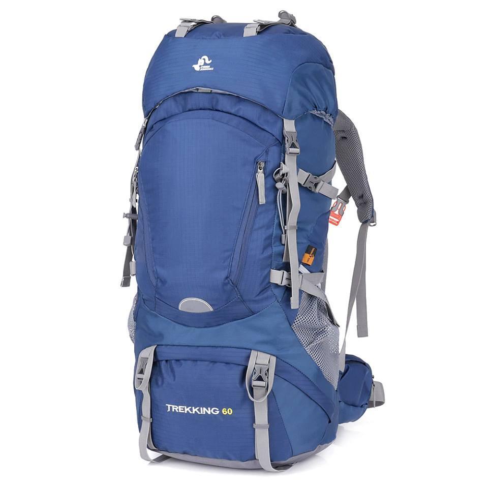 Рюкзак туристический Free Knight Trekking 60 литра для трекинга Синий.