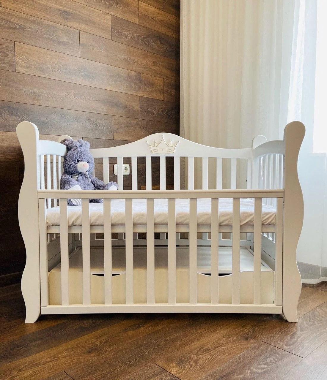 Дитяче ліжечко Angelo Lux-10 Корона Біле