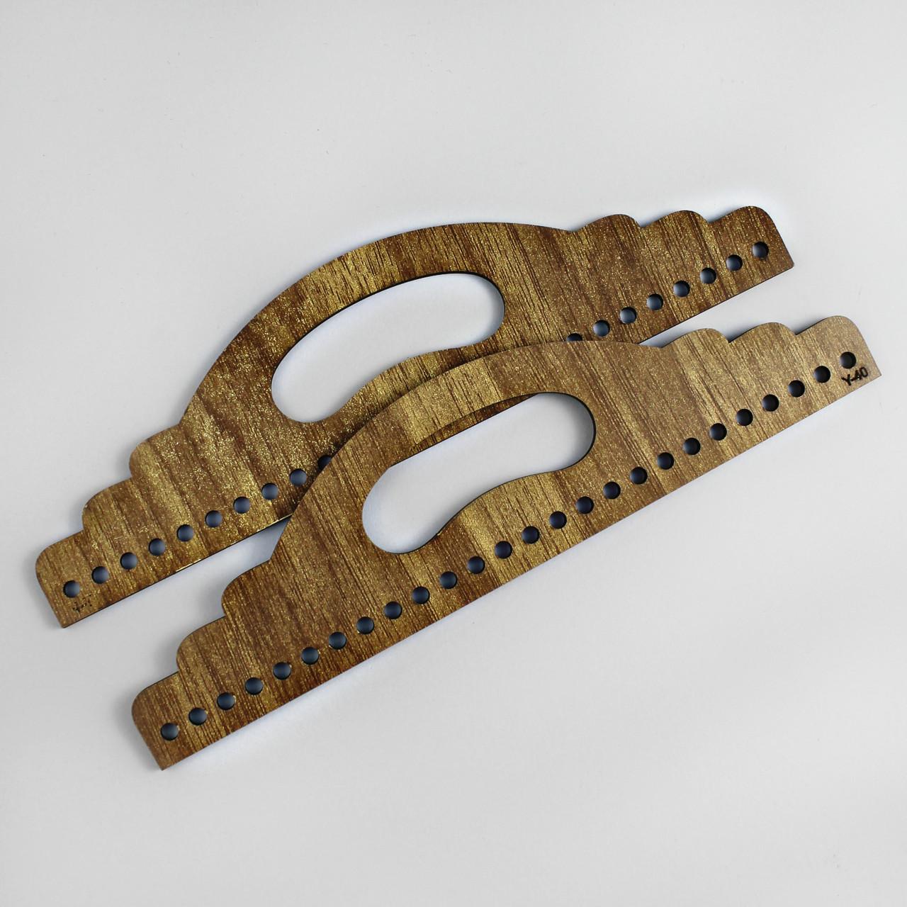Ручки для сумки деревянные полукруглые с отверстием Браун
