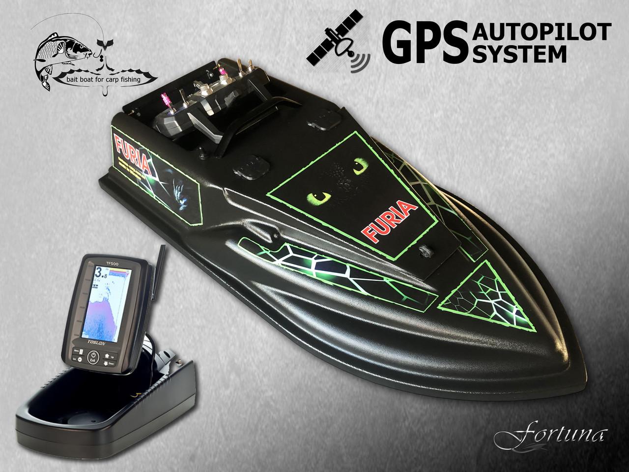 GPS (8+1), ехолот Toslon TF500, Прикормочный кораблик Фурія