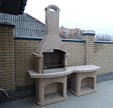 "Бетонный стол-плита для уличного камина-барбекю ""Рио"", фото 9"