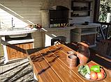 "Бетонный стол-плита для уличного камина-барбекю ""Рио"", фото 8"