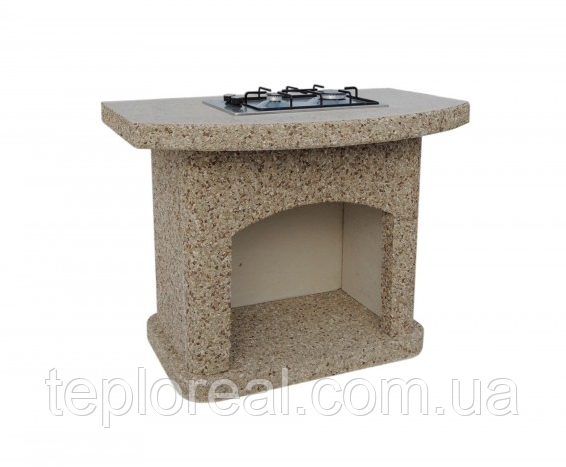 """Бетонный стол-плита для уличного камина-барбекю """"Рио"""""""