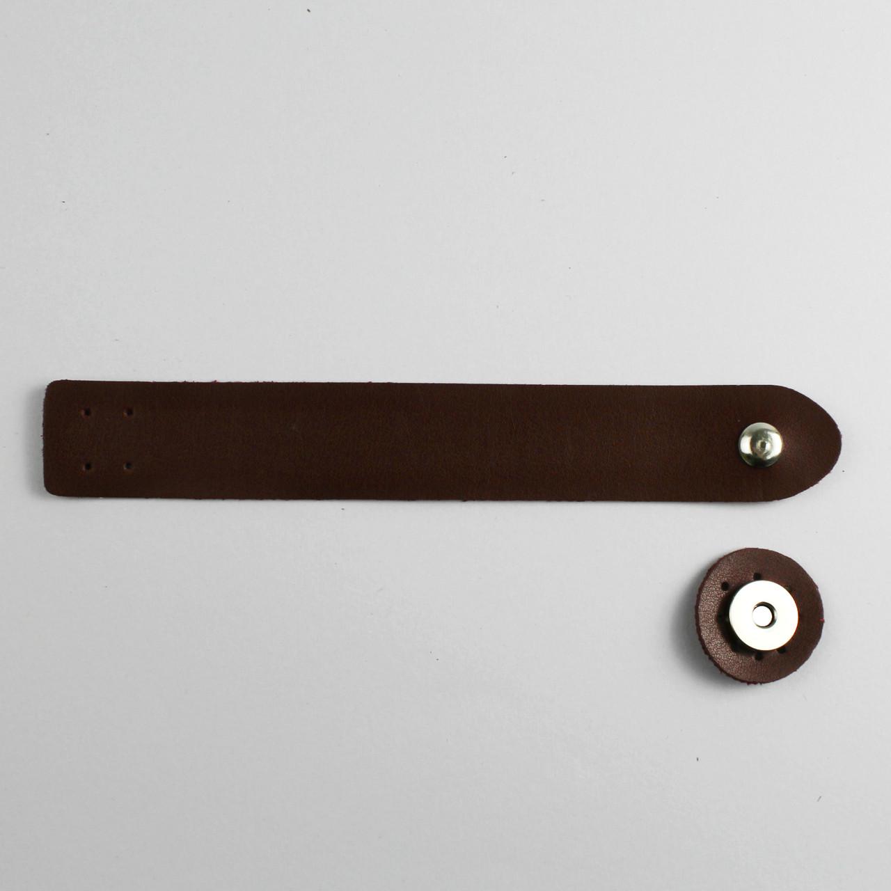 Клапан для сумки экокожа Бордо 3х20см фурнитура серебро