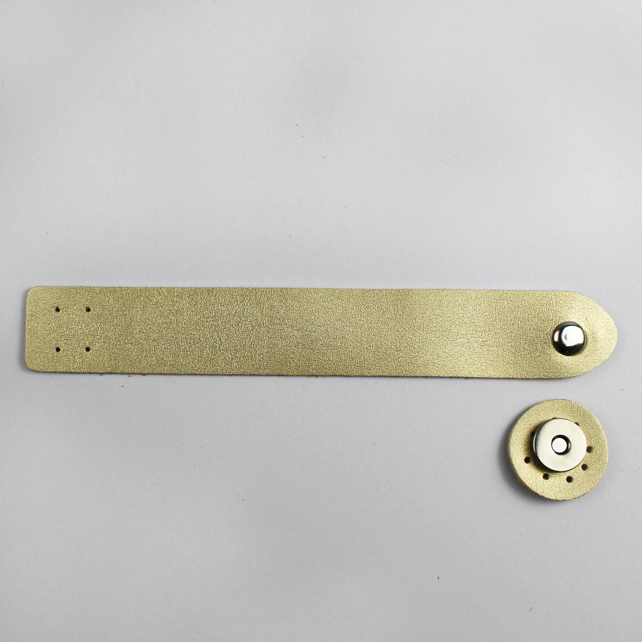 Клапан для сумки экокожа Бронза 3х20см фурнитура серебро