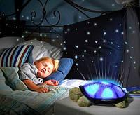 Детский ночник-светильник звездного неба черепаха
