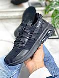 Женские кроссовки Nuig текстильные черные, фото 3