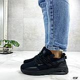 Женские кроссовки Nuig текстильные черные, фото 2
