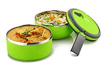 Термо ланч бокс одноярусный, объем 0.7л, Вакумный одноярусный контейнер для еды