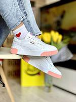 Женские кроссовки Puma Cali White-pink