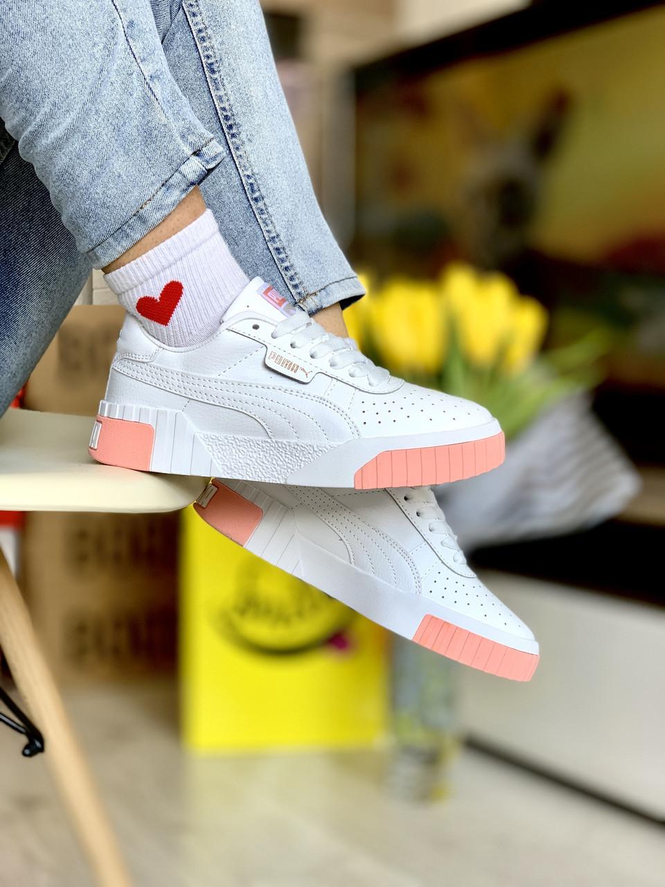 Жіночі кросівки Puma Cali White-pink
