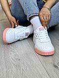 Жіночі кросівки Puma Cali White-pink, фото 5