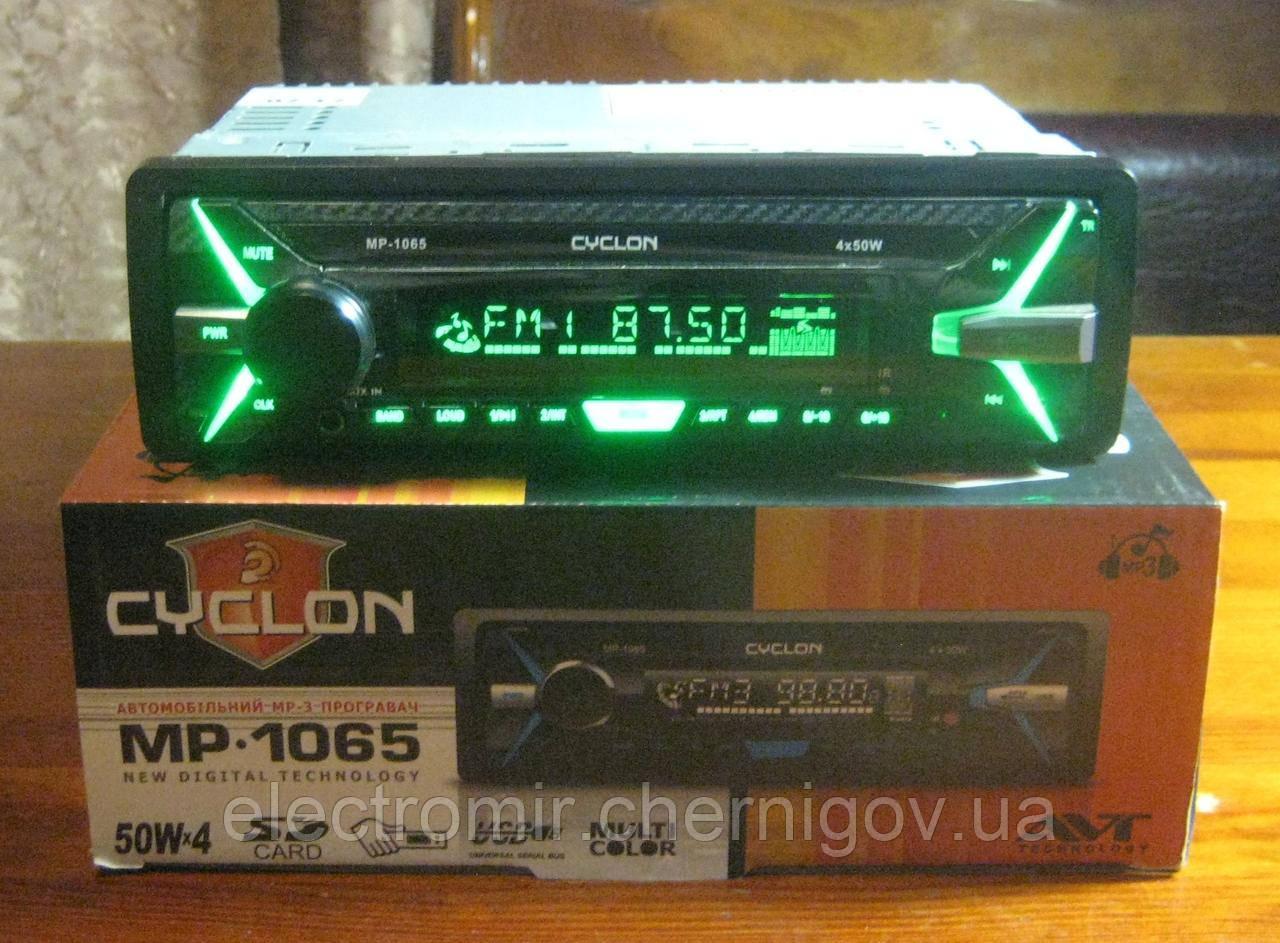 Автомагнитола Cyclon MP-1065 (мультиколор, съемная панель)