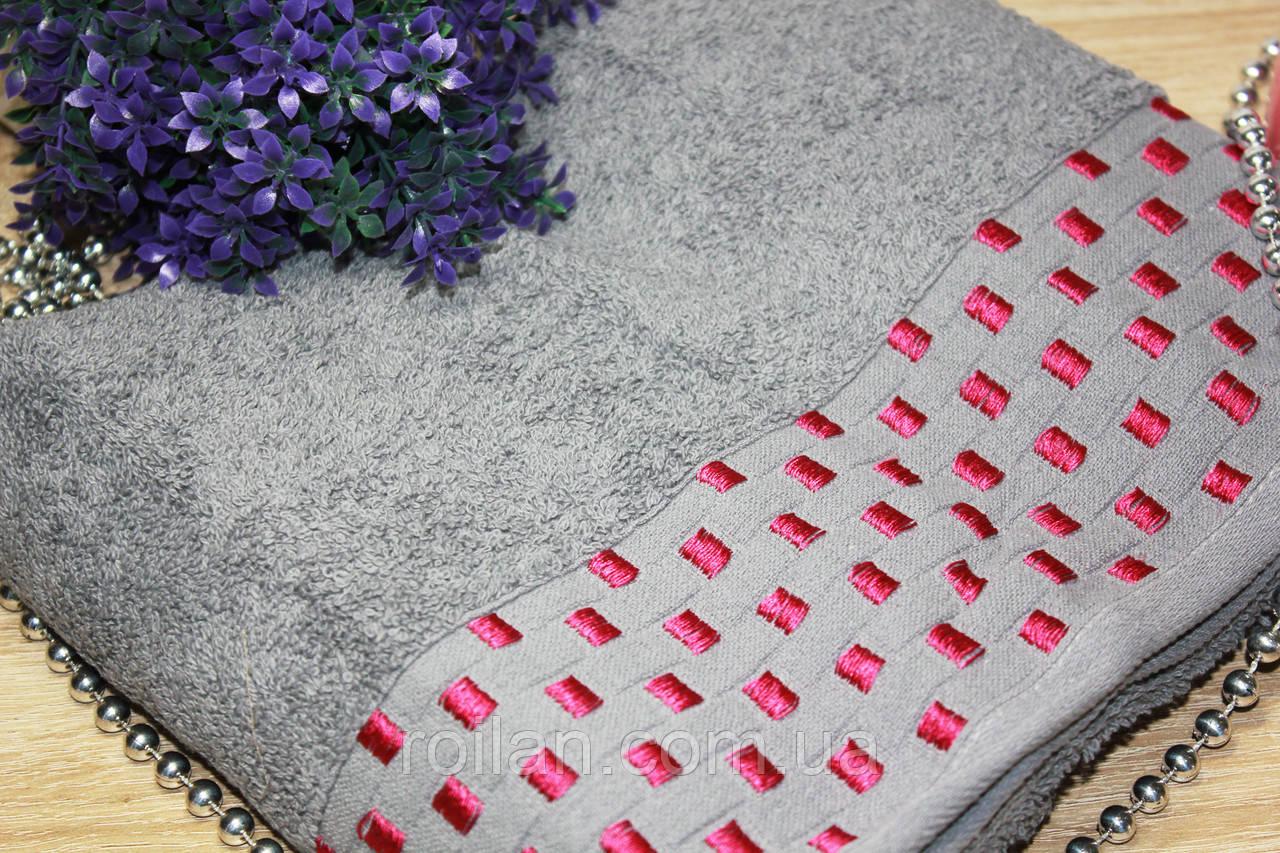 Лицевое турецкие полотенце Темно серый цвет