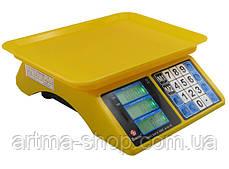 Торговые весы Domotec от 200 грамм до 40 кг, 2 дисплея, Просчет стоимости товара, Yellow (MS-266)
