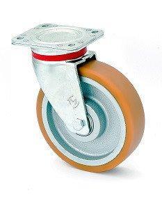 Колесо поворотное KAMA Extra Large с крепёжной панелью 125 мм (4502-ELR-125-В)