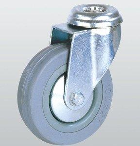 Колесо аппаратное SNB поворотное с отверстием 125 мм (3005-S-125-P)