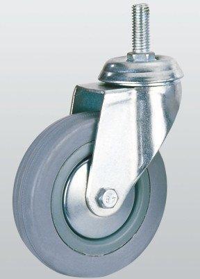 Колесо аппаратное SNB поворотное с отверстием и резьбой 100 мм (3008-S-100-P)