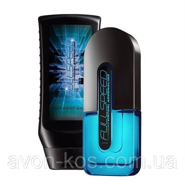 Набор Avon Full Speed Virtual Adrenaline для Него 2 в 1 мужской