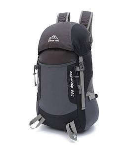 Легкий туристический рюкзак для трекинга. Складной рюкзак 35 литра. Черный.