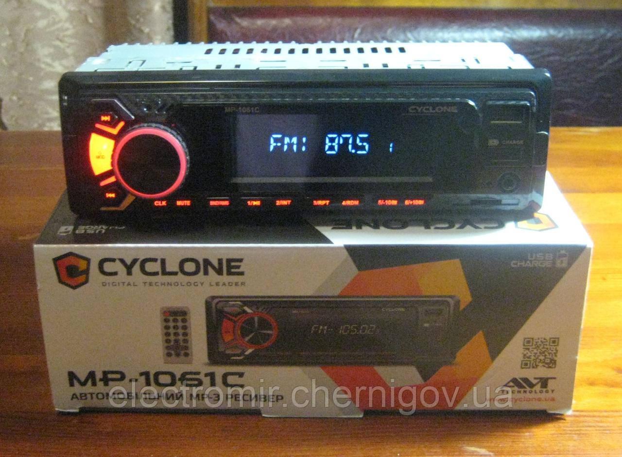 Автомагнитола Cyclone MP-1061 C (красная подсветка, функция зарядки)