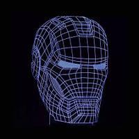 3D Светильник Маска Железного человека 6-1